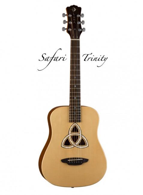 Luna SAF TRI- акустическая гитара 3/4,ель, цвет натур. матовый, чехол.